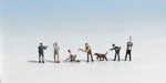 Noch N36060 N Scale Hunters, Dog & Lumberjacks (7)
